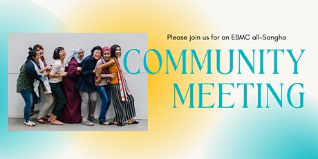 Monday May 10: Community Meeting tickets