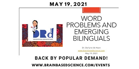 BACK BY POPULAR DEMAND: Word Problems and Emerging Bilinguals tickets