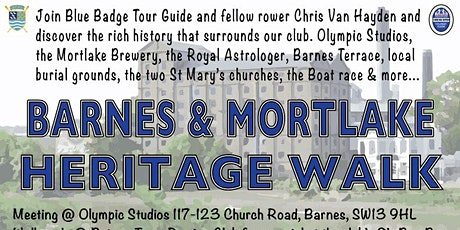 Barnes/Mortlake Heritage Walk & social @ Putney Town Rowing Club tickets