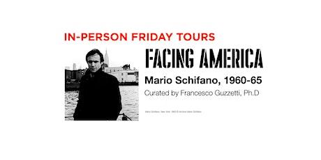 JUNE FRIDAY •• in-person tours •• Facing America: Mario Schifano 1960–1965 tickets