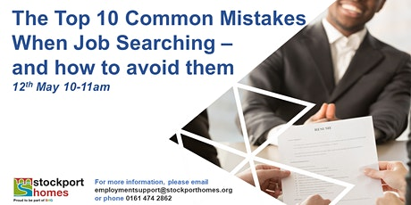The Top 10 Common Mistakes When Job Searching – and How to Avoid them tickets