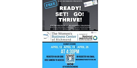 Ready! Set! Go, THRIVE! - The Fundamentals of Entrepreneurship tickets