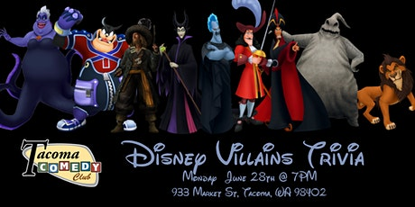 Disney Villains Trivia at Tacoma Comedy Club tickets