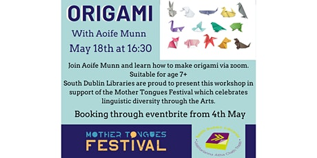 Origami Workshop for kids with Aoife Munn tickets