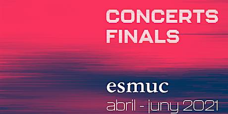 Concerts Finals ESMUC. Sergi Palou. Saxòfon. Conservatori Barcelona. entradas