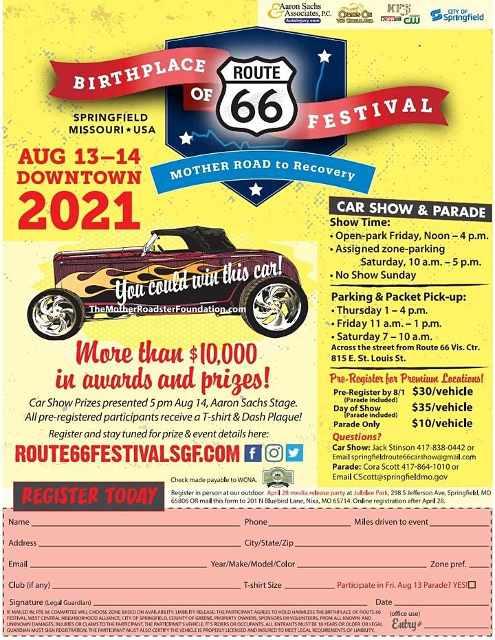 10th Annual Route 66 Car Show - Springfield MO image