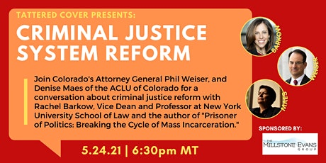 Tattered Cover Presents: Criminal Justice System Reform tickets
