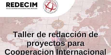 Taller de Redacción de Proyectos para Cooperación Internacional entradas
