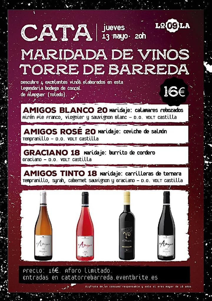 Imagen de Cata Maridada de Vinos Torre de Barreda (Toledo)