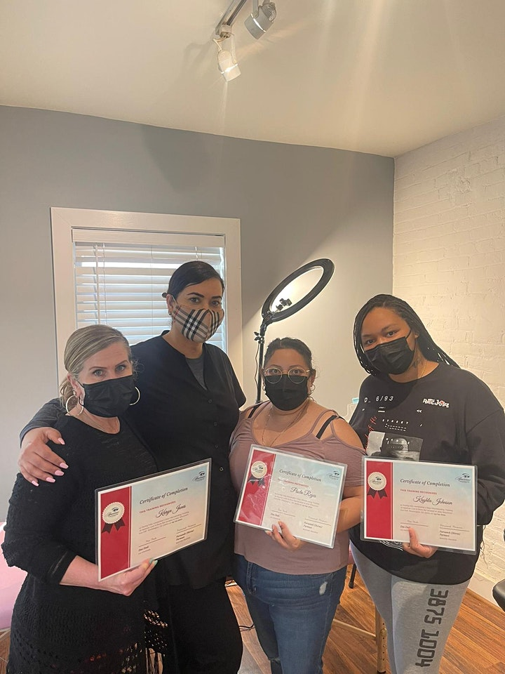 1 Day  Lash Lift & Tint Certification Course With Brow Lamination Training image