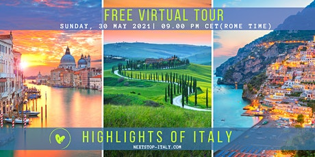 FREE VIRTUAL TOUR: Highlights of ITALY tickets