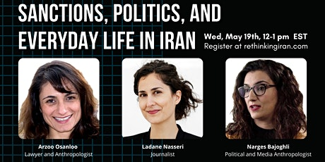 Sanctions, Politics, and Everyday Life in Iran tickets