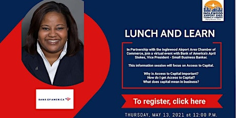 Lunch and Learn with Mrs. April Stokes of Bank of America tickets