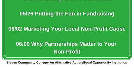 Why Partnerships Matter to Non-Profits tickets