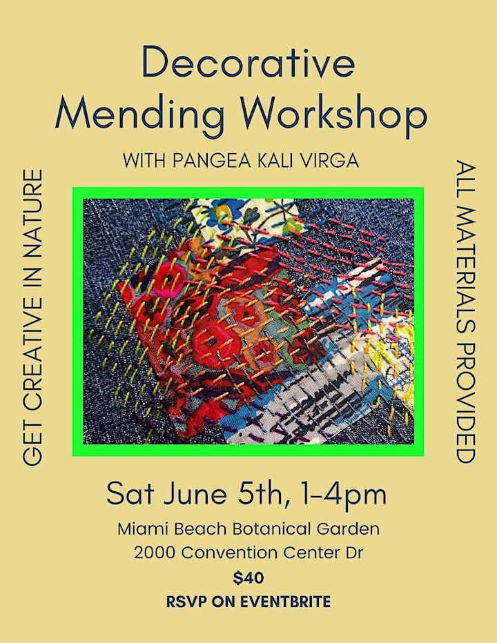 Decorative Mending Workshop with Pangea Kali Virga image