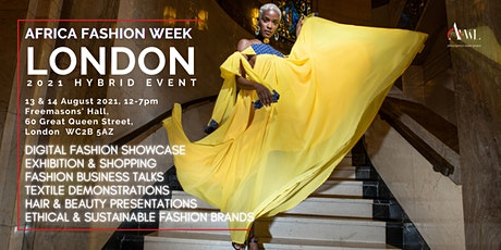 Africa Fashion Week London 2021 Hybrid Event tickets