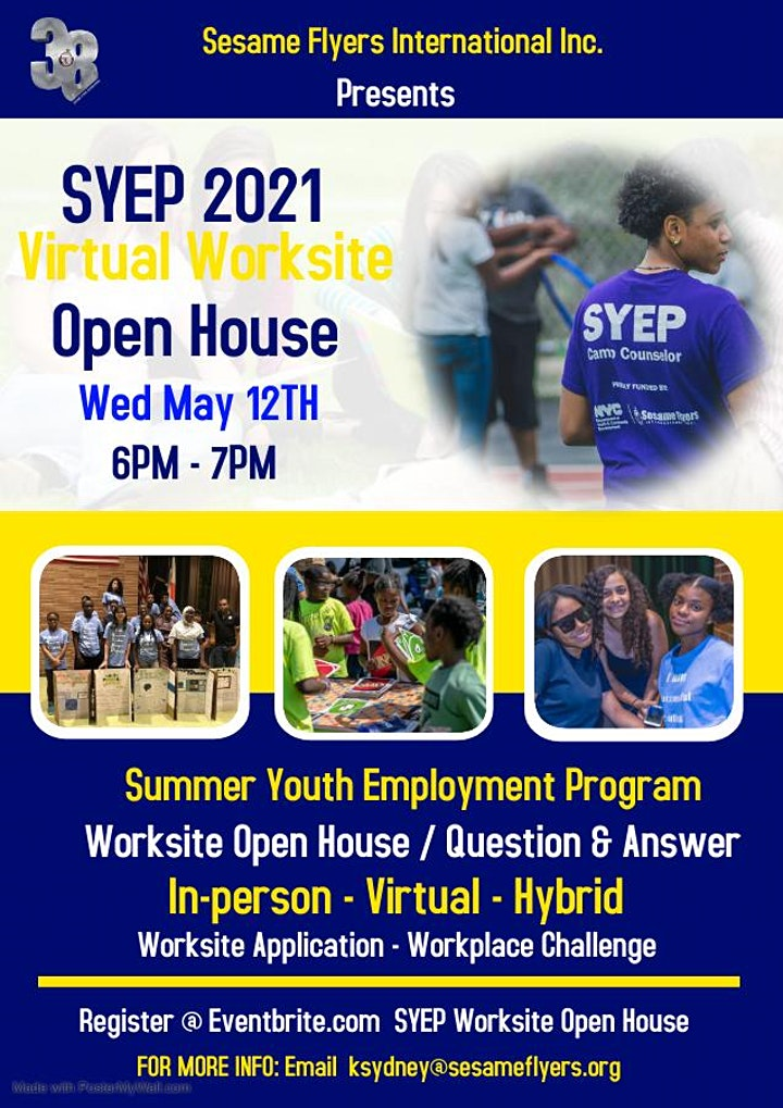 SYEP Virtual Worksite Open House image