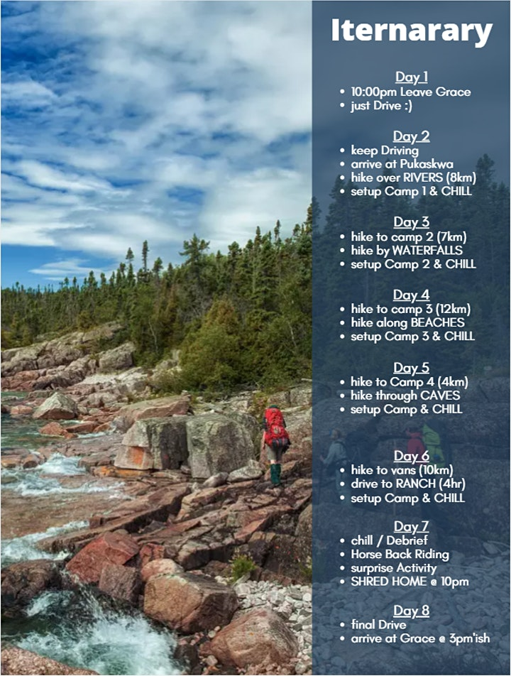 Northern Ontario  Backpacking Youth Trip | Aug 27 - Sept 3, 2021 image