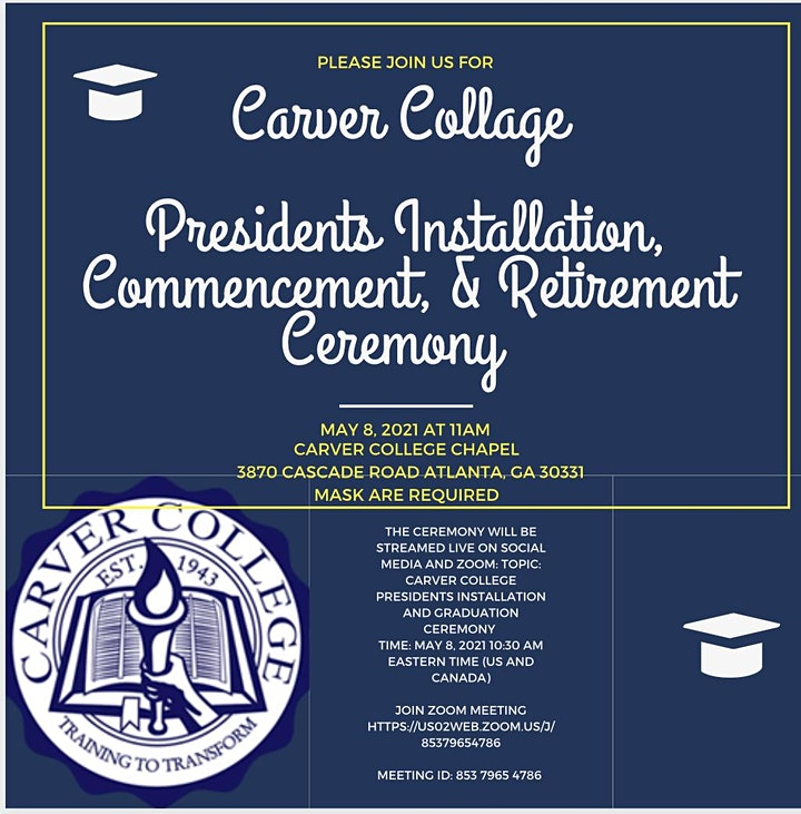 Carver College Installation/ Commencement/Retirement image