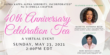Nu Xi Omega 40th Anniversary Celebration Tea tickets