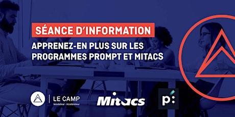 Séance d'information | Programmes Mitacs et Prompt billets