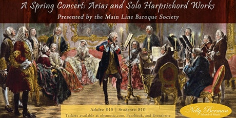 A Spring Concert: Arias and Solo Harpsichord Works tickets