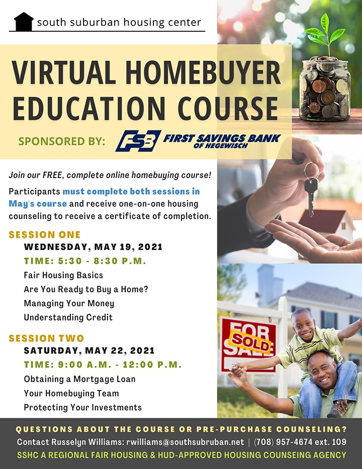 May Virtual Homebuyer Education Course image