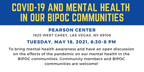 COVID-19 and Mental Health in Our BIPOC Communities tickets