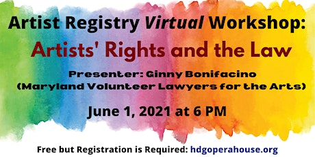 Artist Registry Workshop – Artists' Rights and the Law tickets