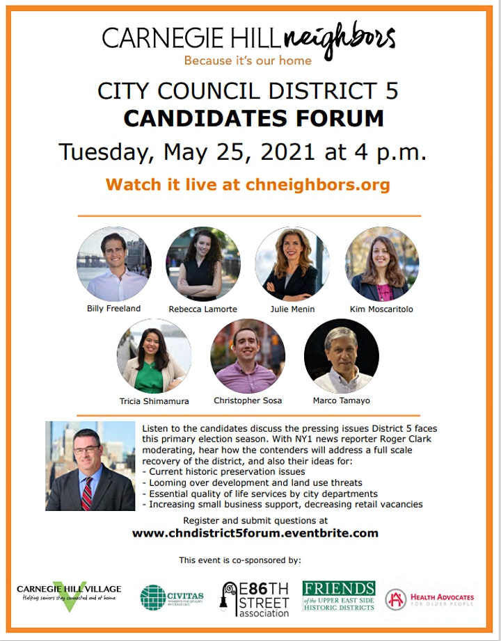 NY City Council District 5 Candidates Forum image