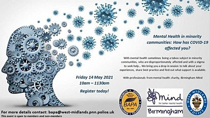 Mental Health in Minority Communities : How has Covid-19 affected you tickets