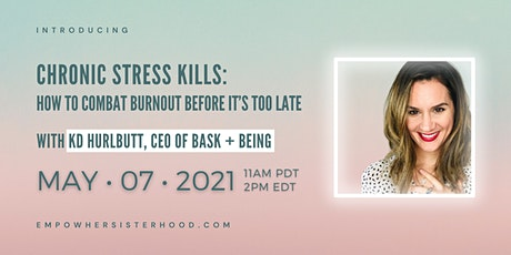 Chronic Stress Kills: How to Combat Burnout Before it's too Late biglietti