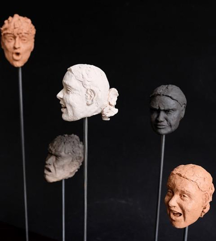 """Art Cafe' PLUS!  """"Contemporary Portraiture in Clay"""" with sculptor Jo Pearl image"""