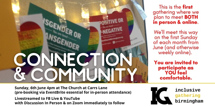 June 'In-Person' Inclusive Gathering at The Church at Carrs Lane image