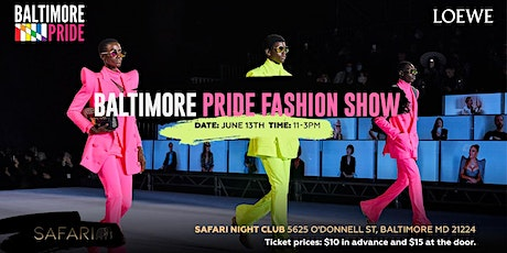 Baltimore Pride Fashion Show tickets