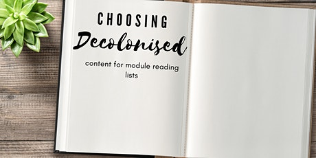 Choosing Decolonised content for module reading lists tickets
