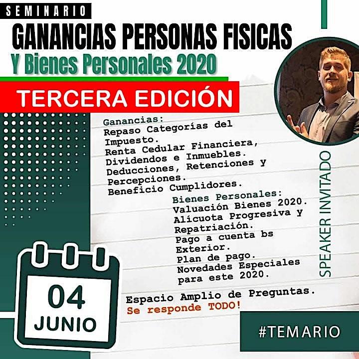 Imagen de 3era Edición - SEMINARIO 3 HS Ganancias P Físicas  y Bienes Personales 2020