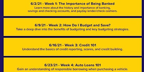 Financial Literacy from Excite CU tickets