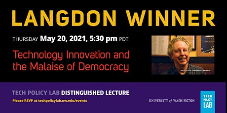 TPL Distinguished Lecture with Langdon Winner tickets