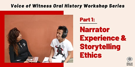 VOW Workshop #1: Narrator Experience & Storytelling Ethics tickets