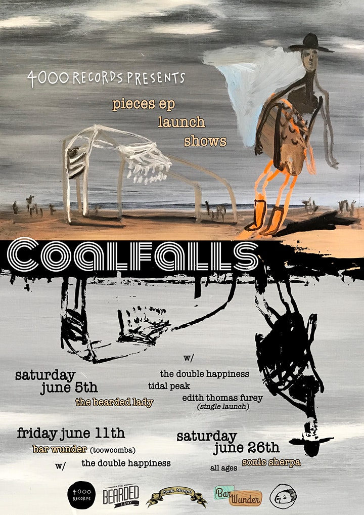 Coalfalls 'Pieces' EP Launch w/ The Double Happiness, Tidal Peak and Edith image