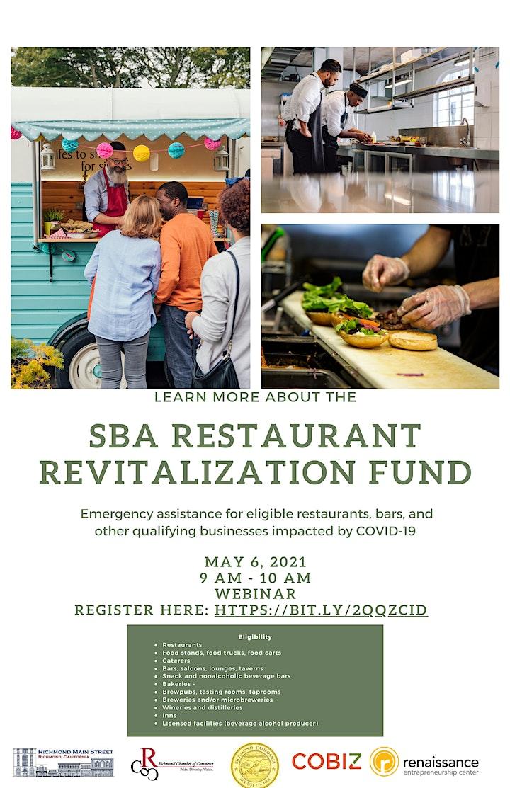 SBA Restaurant Revitalization Fund Presentation (Webinar) image