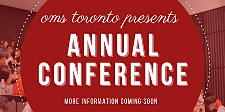OMS Toronto Conference tickets