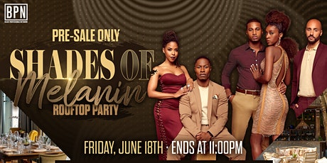 5th Annual Shades of Melanin Rooftop Party tickets