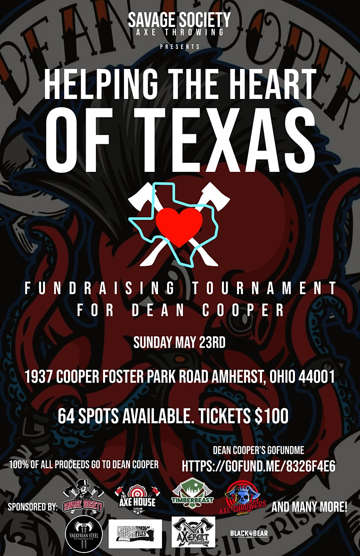 Helping The Heart Of Texas  a Fundraising Tournament For Dean Cooper image