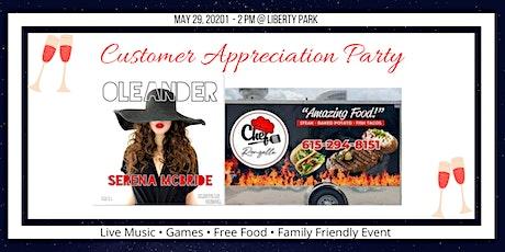 Customer Appreciation Party tickets