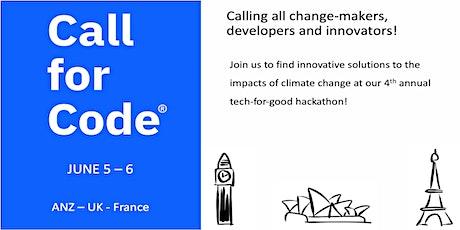 Call For Code Hackathon ANZ-UK-France entradas