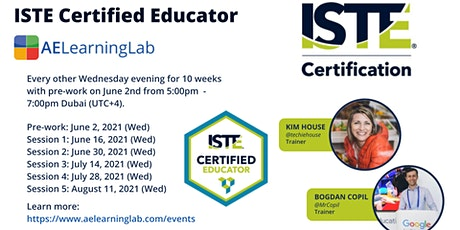 ISTE Certified Educator MENA - Get Certified Completely online tickets