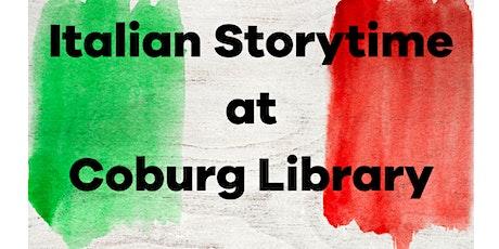 Italian storytime tickets