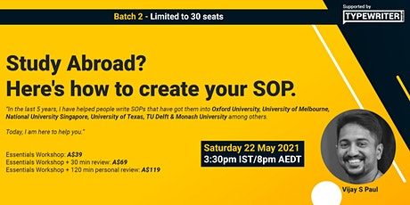 Study Abroad? Here's how to create your SOP. tickets